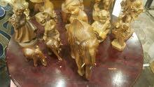 تماثيل خشبية حفر يدوي