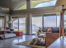 شاليه 110م (3غرف / 2حمام) رؤية كاملة للبحر مباشرة للبيع بمقدم 10% فقط