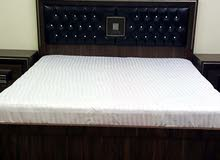 bed set with mattress and other home accessories
