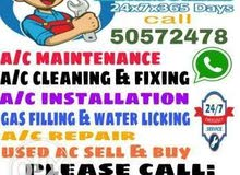 all kinds of AC maintenance riparian service work and fix buy and sell gas