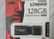 فلاشة كينجستون 128 جيجا سرعتها 3.0 Flash Memory Kingston 128 Gb 3.0