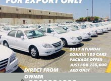 FOR EXPORT ONLY 2017 HYUNDAI SONATAS TOTAL 105 CARS AMAZING OFFER
