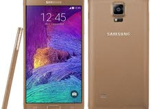 جهاز نوت 4 لون ذهبي نظام GSM للبيع