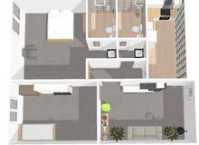 شقق سكنية + معرض تجاري showroom + مخزن basement