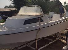 قارب 17 قدم مع مكينه 85 ياماها مع الترولي
