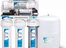 لدينا فلاتر تنقية وتحلية المياه 6 مراحل مع ضمان وتوصيل مجاني