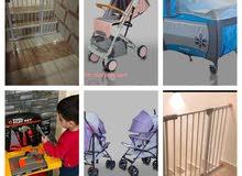 باب حماية للاطفال ..تخت بيبي ..عرباية اطفال انيقة ومتنقلة