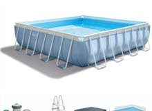 Prism Frame Square Pool With Filter Pump