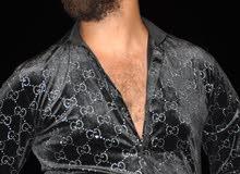 قميص اسود تركى بكم للحفلات xl -l- m