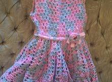 فستان للأطفال بالكروشيه