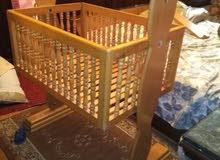 سرير اطفال خشب زان