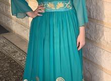turquoise - Arabic jalabia