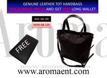 Original leather handbags