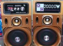 سماعات بها راديو + اكوليزر + بلوتوث + مدخل فلاشة USB +كابل ستريو + الريموت كنترول (20000 وات)