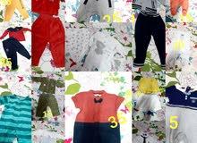 للبيع ملابس صبي من عمر يوم لعمر  السنة ونصف أسعار مناسبة