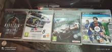 اعلان على (4) العاب PS3 مثل MURDERED,GRAN TURISMO 5,FIFA2013,RIOGE RACER ب450