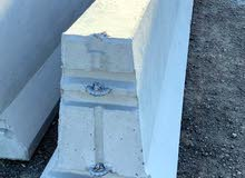 concrete barriers 3.8m per Ashgal specifation.