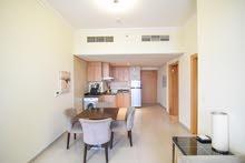 دبي البرشاء جنوب ارجان غرفة وصالة مفروشة سوبر لوكس - ايجار شهري