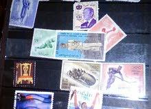 طوابع يمنية وعربية واجنبية