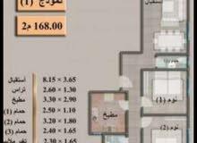 شقة للبيع مساحة 170 متر مربع مدينه 6 اكتوبر حي المستثمر الصغير