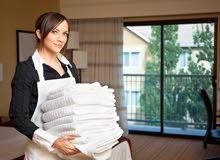 متوفر خادمات تنظيف.......يومي...أسبوعي....شهري