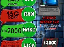 كالزيرو/LENOVO IDEPAD 520 CORE I7 جيل سابع// رمات 16جيجا DDR4 هارد 2TB