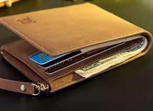 محفظة جلدية اصلية ممتازة راقية وجميلة