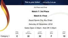 4 Tickets for Real Madrid Vs Al Ain match