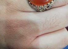 للبيع خاتم شكل جميل فضة