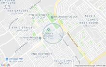 شقة للبيع بالحي الأول على المحور المركزى أمام جامعة 6اكتوبر مباشرتا 170م