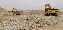 حفر  والهدم ونقل الرمال والكنكري وتوزيع المياهفي كامل عمان