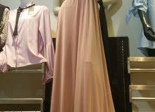 فستان سهرة لون واحد