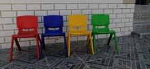 كراسي شبه جديد جدا بريال يوجد 90 كرسي للروضة