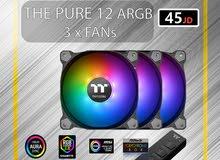 thermaltake PURE 12 ARGB / FAN Kit x 3 / مراوح عدد 3 مع controller
