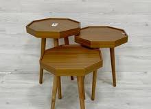 طاولات 3 قطع جديدة بالكرتون