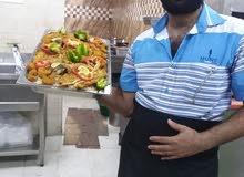 ببحث عن فرصه عمل شيف مأكولات بحريه مقيم في صحار معاه نقل كفاله رقم 96025935