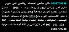 0582709738 محلل احصائي دكتور إحصاء   رياضيات مدرس جامعي احصاء   spss لجميع الرسائل