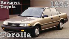 للبيع تويوتا 1992 Corolla
