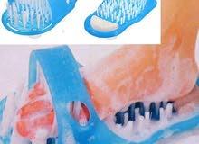دعسة تنظيف القدم البلاستيك الزرقاء