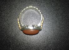 خاتم حجر يماني احمر .قديم جدا