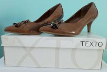 TEXTO - Chaussure Femme - Beig - Cuir - AvecTalons  Taille 38 -