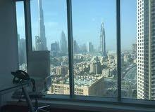 مكاتب مفروشة اطلالة على برج خليفة