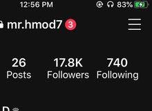 حساب انستغرام 17.8k
