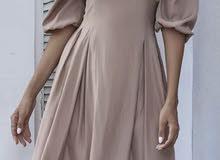 فستان بني جميلل
