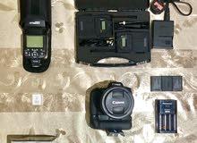 كاميرا كانون 760D - عدسة 18-135mm - مع معداتها