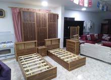 غرف اطفال وشباب 6درف طابقين خشب لاتيه 18م اندونيسي بسعر الجمله 385دينار فقط