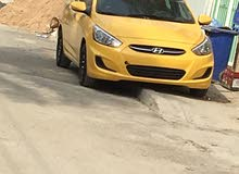 Automatic Yellow Hyundai 2017 for sale