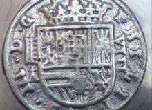 قطعة 8ريال فضية اسبانية بتاريخ 1617