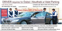 Urgent Valet parking Drivers with UAE license no 3