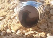 خاتم عقيق يماني مصور ( الصقر )